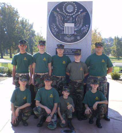 Young Marines Attending